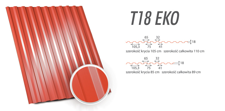 Blachy Trapezowe - T18 EKO