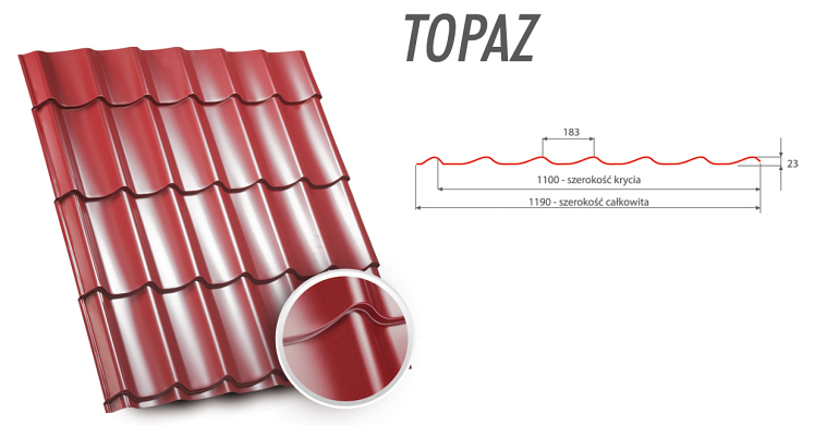 Blachodachówki Topaz
